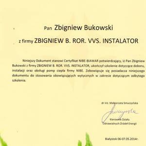 Zbigniew B.ROR.VVS.Instalator