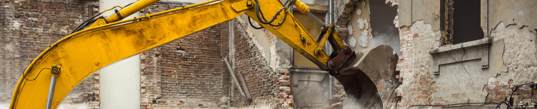 Wyburzenie budynku w Szczecinie